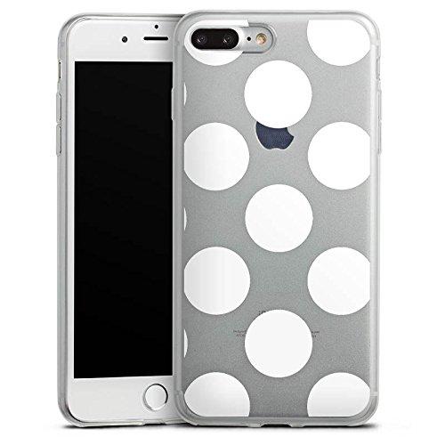 Apple iPhone 5s Slim Case Silikon Hülle Schutzhülle Muster ohne Hintergrund Punkte Polka Dots Silikon Slim Case transparent