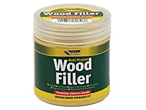 Everbuild Multi purpose premium joiners grade wood filler - Filling small imperfections in wood - 250ml - Light Oak