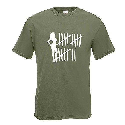 Kiwistar Bitch Strichliste - Tussi - Schlampe T-Shirt in 15 Verschiedenen Farben - Herren Funshirt Bedruckt Design Sprüche Spruch Motive Oberteil Baumwolle Print Größe S M L XL XXL Olive