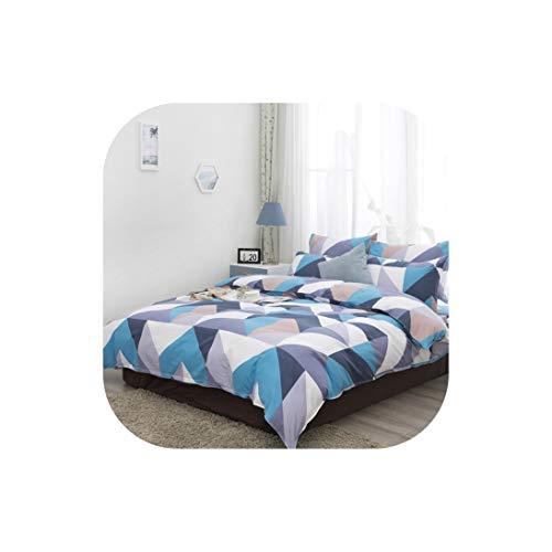 Moily Fayshow Aus Reiner Baumwolle 4Pcs Schlaf Einfache Single Doppelbettbezüge, Xhs0128-04, Königin -