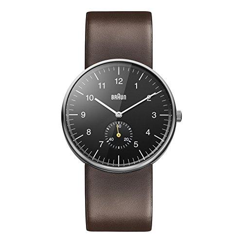 Braun orologio da polso, con cinturino in pelle, marrone