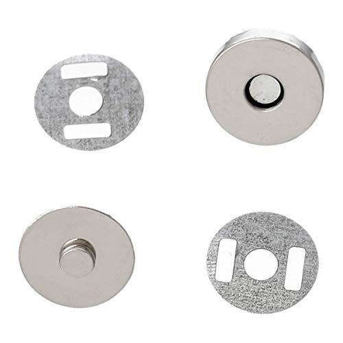 HUIDE 20 Setzt Silber Tone Magnetic Purse Snap Class Button /Great for Closure Purse Handtasche Kleidung Nähmaschine Keine Werkzeuge erforderlich Hd-snap