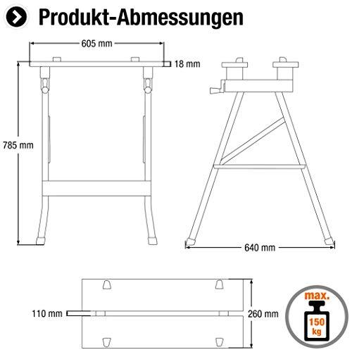 Meister Werk- und Spanntisch 150 kg, 9079100 - 2