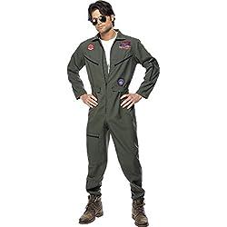 Original Top Gun Kostüm Topgun Pilotenkostüm Pilot Gr. 48/50 (M), Größe:M