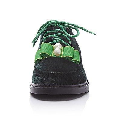 Confortevole ed elegante piatto scarpe donna Appartamenti Primavera Estate Autunno Inverno altre pile Office & Carriera Abbigliamento Sportivo tacco piatto Lace-Verde Borgogna Burgundy