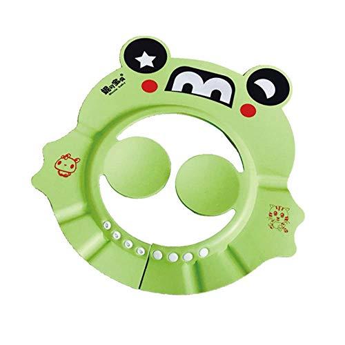 YSY Baby Shampoo Protection Cap Cartoon Kinder Adjustable Badeduschen-Cap Sunshade Goggles Shade Green,Green