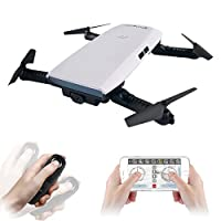 EACHINE Drone With Camera, E56 WIFI FPV Quadcopter With 2MP 720P Camera Live Video Gravity Sensor Mobile APP Control Foldable Altitude Hold Mode Selfie Pocket RC Helicopter RTF from Aeiolw