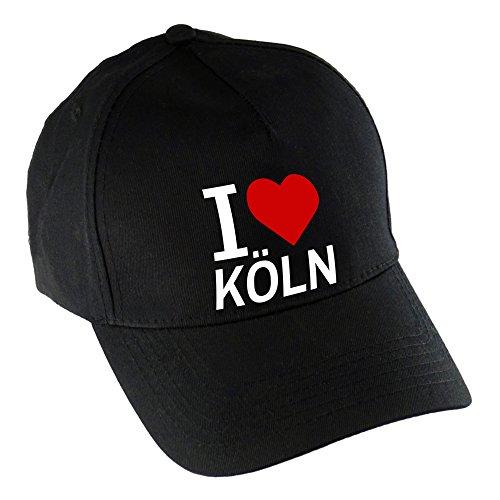 Baseballcap Classic I Love Köln schwarz