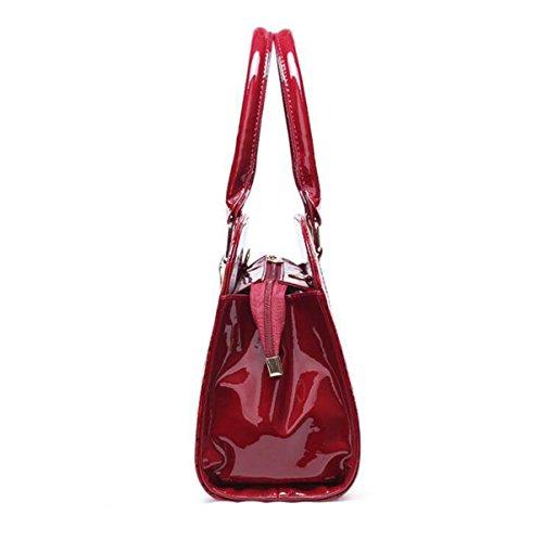 Dame Kuriertasche Schulterhandtasche Art Und Weise Eleganter Reißverschluss Luxuxdruckmuster Red