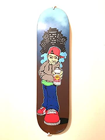 Custom Hand-painted Skate deck Urban graffiti skate street art style painted by SHAME125 signed by artist Limited edition custom made skate board