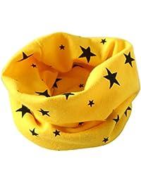 Schal - SODIAL(R)Jungen Maedchen Kragen Baby Schal Baumwolle O-Ring Hals Schals (gelb)