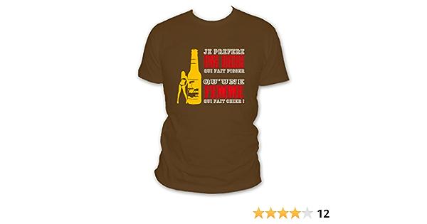 T-Shirt Hommes bierkulesBière bierlieber Super-Héros d/'alcool