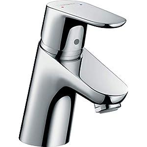 Hansgrohe 31132000 Focus 70 Grifo de lavabo para calentadores abiertos, con vaciador automático, Cromo