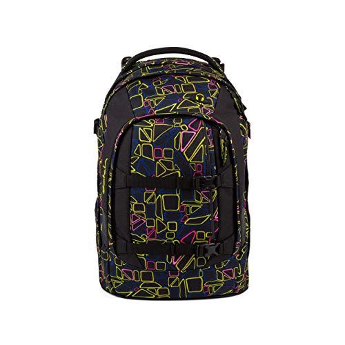 satch Pack Disco Frisco, ergonomischer Schulrucksack, 30 Liter, Organisationstalent, Schwarz/Pink/Gelb