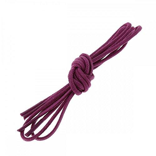 Les lacets Français Lacets Ronds Coton Ciré Couleur Violet