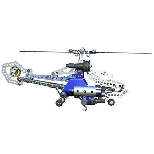 Meccano 6023643 - confezione per costruire 2 modelli di elicotteri, pezzi in metallo