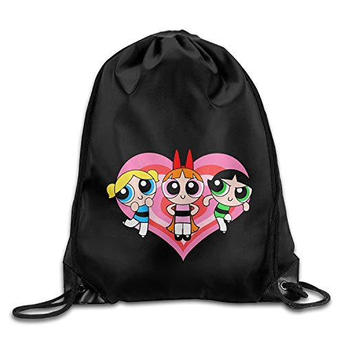 ex Gym Bag Powerpuff Girls Sport Backpack Drawstring Bag Home Travel Storage Use Sackpack ()