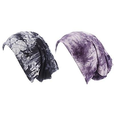 iBaste Turban Damen Mütze Muslime Kopftuch Gestrickt Hijab Kopftuch für Haarausfall Krebs Chemo Kopfbedeckung Baumwolle Kopftuch Set