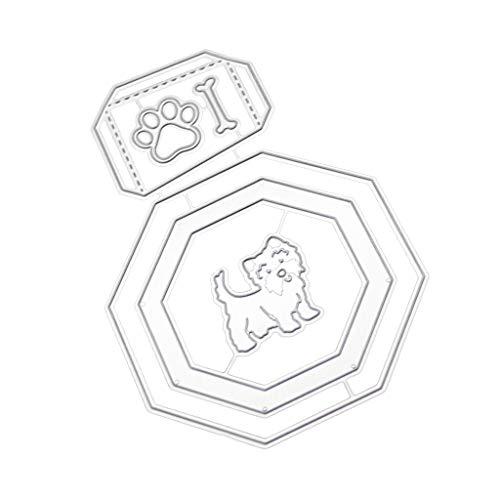 Xmiral fustelle per scrapbooking per carta cutting dies metallo fustella stencil #19042610, accessori per big shot e altre macchina(f)