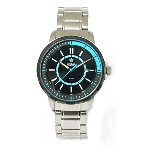 Royal London 40115-04 - Reloj para hombres, correa de acero inoxidable color plateado
