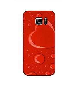 Fuson heartshape water drop theme Designer Back Case Cover forSamsung Galaxy S7 Edge :: Samsung Galaxy S7 Edge Duos :: Samsung Galaxy S7 Edge G935F G935 G935Fd -P-1445