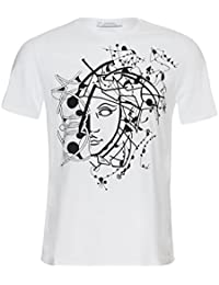 Versace - Camiseta - Étnica - para hombre blanco blanco Small