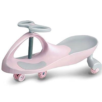 QFFL Niños que tuercen el coche / 1-3 años de edad / Rueda silenciosa de la voz / Swing Car / Equilibrio / interacción entre padres e hijos Coche de niño
