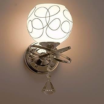 SOLMORE applique da parete interni Lampada da Parete Stile teste Moderno Nuovo Applique E27 lampada da comodino per Camera da letto, Sala, Salotto(Lampadina non Inclusa)