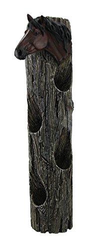 Rack Spirituosen-wand (Pferd Kopf auf Verwitterte Log Rustikale Wand montiert 4Flasche Wein Halter 48,3cm)