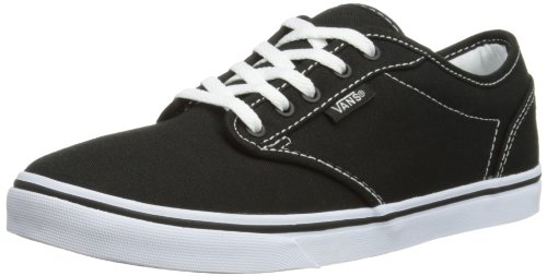 Vans ATWOOD LOW Damen Sneakers, Schwarz ((Canvas)Blk/Wht 187), 35 EU (Canvas-sneakers Blk)