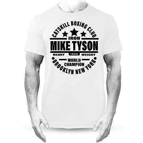 Générique Fer Mike Tyson Catskill Boxe Equipe Premium T-Shirt Blanc
