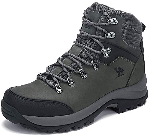 CAMEL CROWN Botas de Senderismo para Hombres High-Top Zapatillas de Trekking Antideslizantes Resistentes...