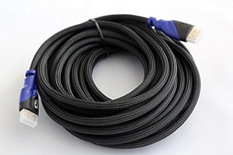 Link-e ® : Câble HDMI ultra HD 4K 2160p 2.0v Full HD ARC - Connecteurs plaqués or - Tressage nylon - Qualité pro - Longueur au choix : 2m, 5m, 10m... - Compatible TV HD, 3D, 4K, écrans HD, Bluray, PC, PS4, PS3, Xbox One, 360...