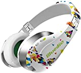 Bluedio A (Air) Fashionable Wireless Bluetooth Headphones with Microphone/ HD Diaphragm/ Twistable Headband/ 3D Surround Sound (White)