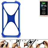 K-S-Trade Handyhülle für Allview P8 Energy Pro Silikon Schutz Hülle Cover Case Bumper Silikoncase TPU Softcase Schutzhülle Smartphone Stoßschutz, blau (1x)