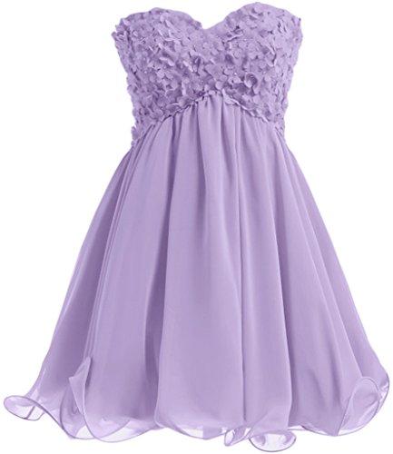 Missdressy - Robe - Plissée - Femme Violet - Lavande