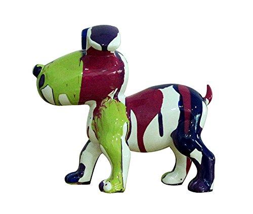 Meubletmoi Petit Chien Sculpture décorative museau Vert - Design Moderne Contemporain