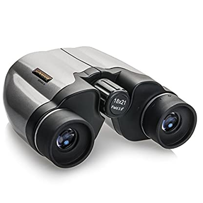Sunagor 18 x 21 Compact Binoculars (Series II) - World's Smallest 18x Magnification - Perfect for Bird Watching and Sports - With Carry Case, Cloth, Wrist Strap and Lens Caps