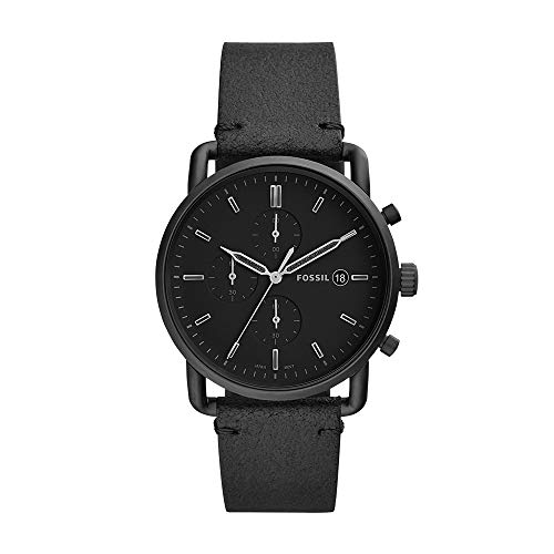 Fossil The Commuter Analog Black Dial Men's Watch-FS5504 at amazon