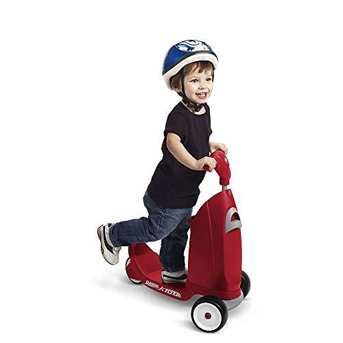 HLJ.SUN Bambini Monopattino 3 Ruote Scooter Kickscooter 3 nel 1 Giro sopra Scooter Bambini Cavalcare Valigia Removibile seduti Valigia Antiscivolo Superficie Bambini Regalo