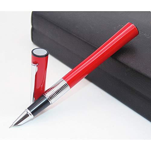 MBVJGH Red Pen Body Glänzende Stiftspitze Wunderschöner Silberring