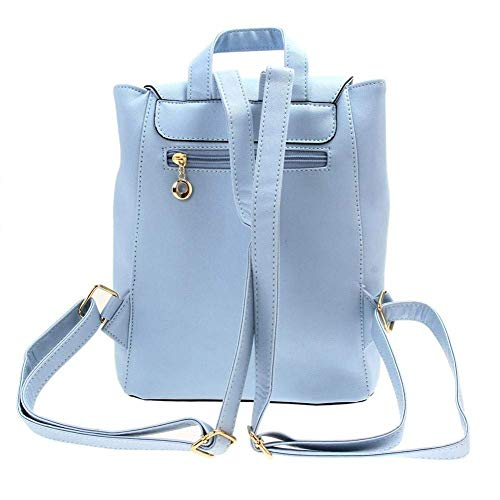 Bizanne Fashion Girl's Canvas Attractive College Bag (Blue) Image 5