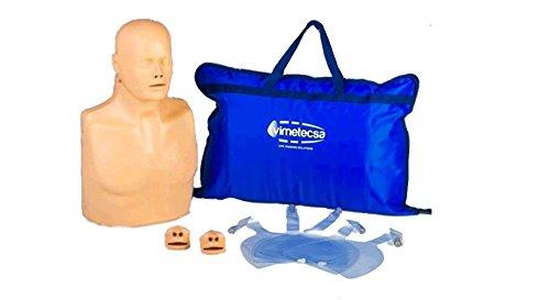 Manichino RCP mezzo busto con selettore adulto/bambino PRATIC MAN ADVANCED accessori inclusi N°1 borsa da trasporto N°5 sacche polmonari N°2 valvole Nà manuale utente italiano