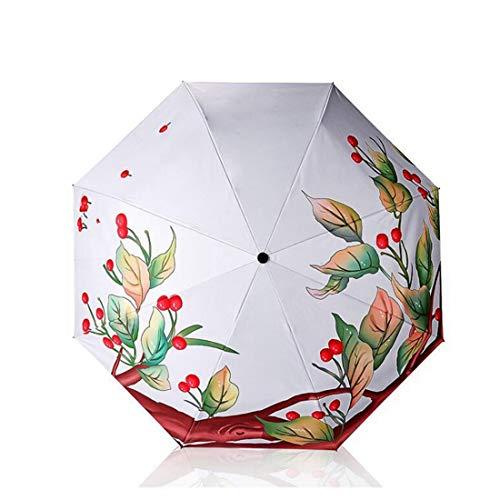 Yahuyaka Kompakter Reise-Regenschirm - Windproof, ergonomischer Griff, verstärkte Überdachung, Auto Open/Close Mehrere Farben (Color : 1)