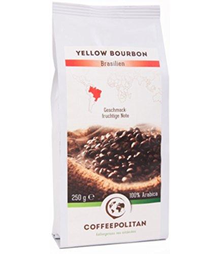 Coffeepolitan Yellow Bourbon - Röstkaffee aus Brasilien - ganze Bohne 250g 1 Packung
