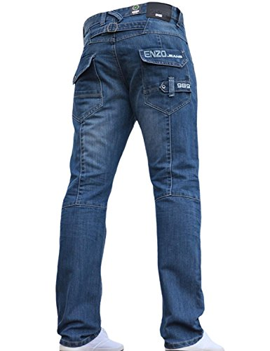 BNWT NEW MENS ENZO JEANS BLUE DE...