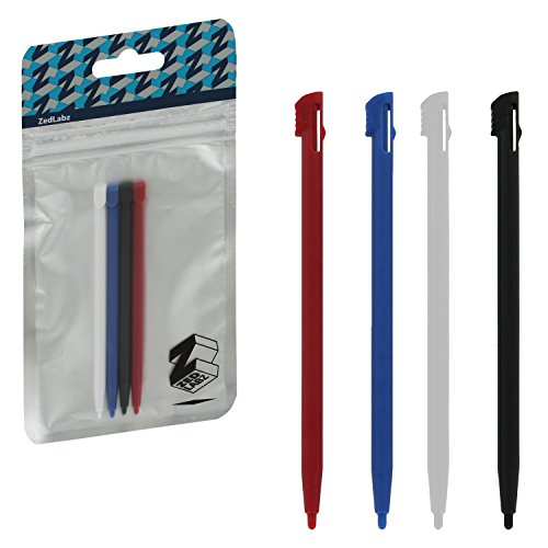 zedlabz-slot-in-plastic-stylus-touch-screen-pen-set-for-nintendo-2ds-red-blue-white-black