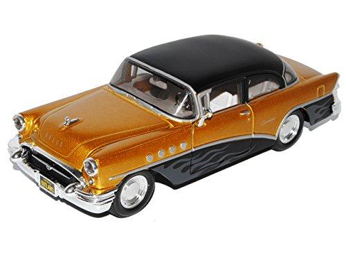 Preisvergleich Produktbild Buick Century 1955 Gold Schwarz Tuning 1/26 1/24 Maisto Modell Auto