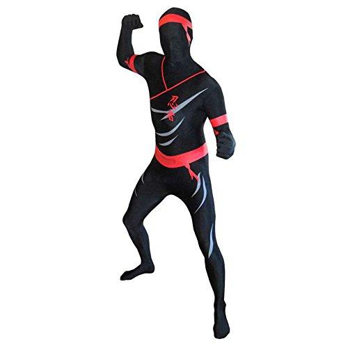 Seconde Kostüm Peau - Zweite Haut Morphsuit TM Ninja schwarz Größe XL