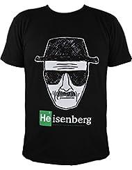 T-shirt breaking bad heisenberg, noir